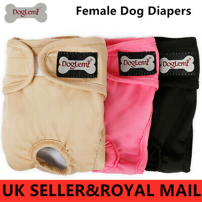 Female Dog Diapers Puppy Nappies Washable Reusable Underwear Breathable Pants • 6.89£