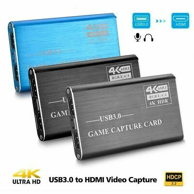 Portable 4K 1080P HDMI To USB 3.0 Video Capture Card Game Recording Fr Streaming • 43.01£