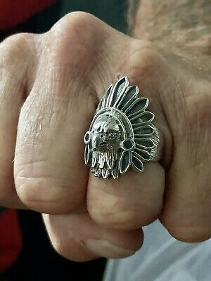 £28 • Buy Silver Eagle Indian Head Ring