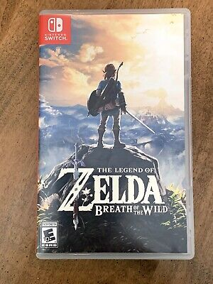 $20.50 • Buy Nintendo SWITCH Legend Of Zelda Breath Of The Wild Game Case Used