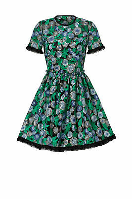 $59.99 • Buy Shoshanna Women's Dress Green Size 8 Sheath Floral Embroidered $580- #129