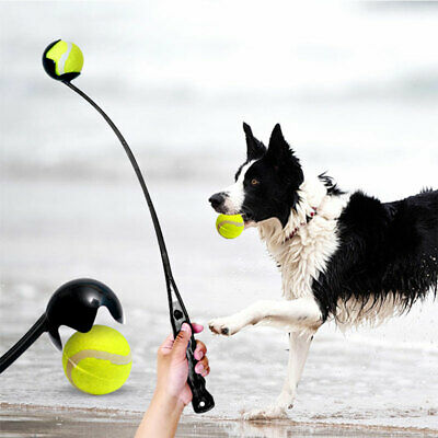 AU13.99 • Buy Dog Ball Thrower Launcher Pet Interactive Toys Easy Grabber Long Handle Outdoor