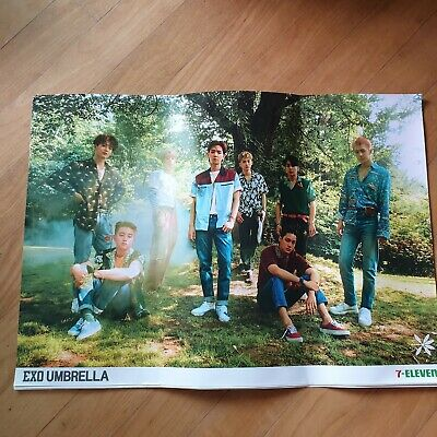 AU19.83 • Buy Exo Umbrella 7-eleven Poster Members Kpop