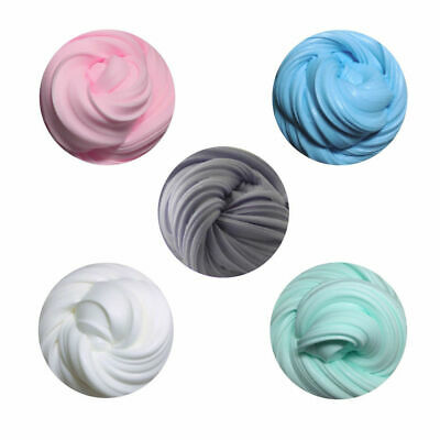 AU3.35 • Buy 1x Stress Relief 60ML Rainbow Cotton Cloud Slime Fluffy Mud 5 Color Kids Toy