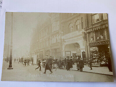 Broad Street, Reading 1900s Lovely Busy Real Photo  • 5.50£