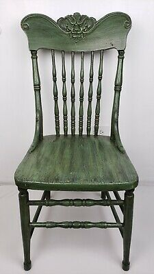 $199.99 • Buy Vtg Wooden Dragon Chair Spindle Back Dragon Face Local Pick Up Chgo. Illinois