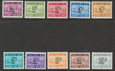 Guernsey 1971 Postage Dues MNH (10) • 0.55£