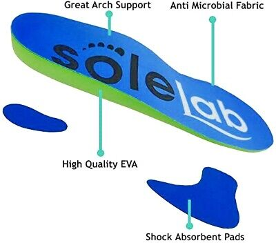 SOLE-LAB Plantar PRO Orthotic Shoe Insoles Arch Support Heel Cushion Fasciitis  • 5.25£