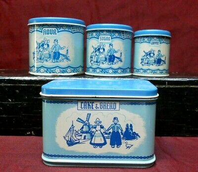 $10.45 • Buy  Vintage Wolverine Miniature Play Toy Tin Canister Set With The HTF Bread Box