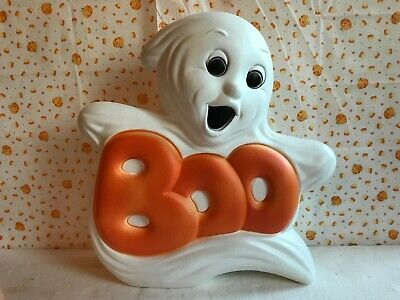 $25.99 • Buy Blow Mold Halloween Decoration Boo Ghost Light Up Grand Venture New