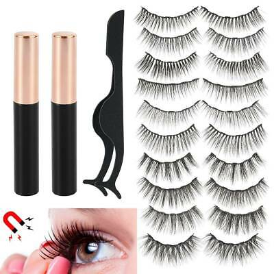 AU10.99 • Buy 10X Magnetic False Eyelashes Eye Lashes Extension Tweezer And 2X Liquid Eyeliner