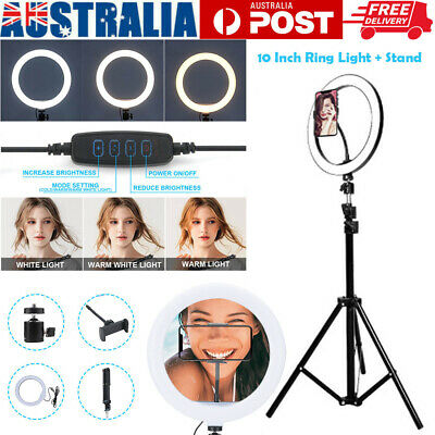 AU19.65 • Buy 10  Phone Selfie LED Ring Light With Stand For Youtube Tiktok Makeup Video Live