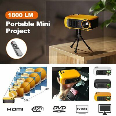 AU87.85 • Buy A2000 Mini Portable Pocket Projector 4K 1080P Movie Projectors Home Theater HDMI
