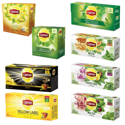 Lipton Tea Pack Different Flavors To Select From Healthy Drink Hot Or Cold Teas • 4.51£
