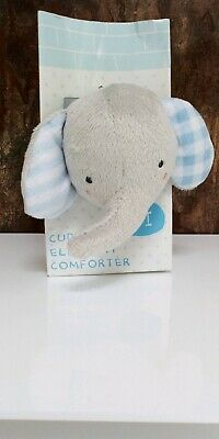 £11 • Buy Mothercare Blue Grey Elephant Comforter Blanket Soother Soft Baby Toy Plush