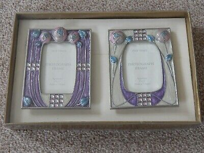 PAST TIMES Mackintosh Enamelled Metal Frames With Glass Crystals BNIB • 15.99£