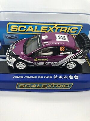 Scalextric Rare Ford Focus Rs Wrc 4x4 Rally Car C3203 New • 19.99£