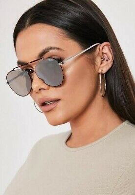 AU45 • Buy Brand New QUAY AUSTRALIA Lickety Split Aviator Sunglasses Tort/ Brown