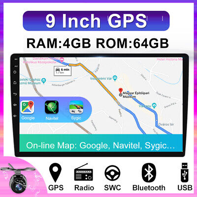 AU254.98 • Buy 9  1DIN Android 10 Head Unit Car Radio Stereo In Dash GPS 4GB+64GB 8Core HDMI BT