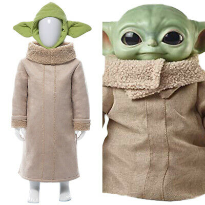 The Mandalorian Yoda Baby Cosplay Halloween Outfit Costume  Suit Kid  • 36£
