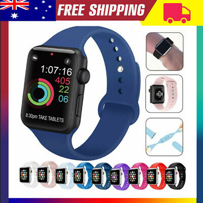 AU5.99 • Buy For Apple Watch IWatch Series 5 4 3 38/40/42/44mm Soft SILICONE Sport Strap Band
