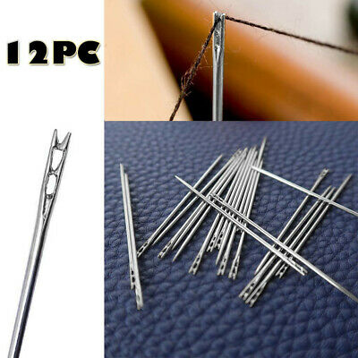 12PCS Thick Big Eye Sewing Self-Threading Needles Embroidery Hand Sewing Simple • 0.99£