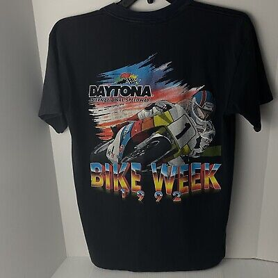 $ CDN74.42 • Buy Vintage 1992 Daytona International Speedway Bike Week Single Stitch T Shirt XL