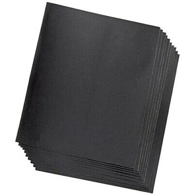 WET AND DRY SANDPAPER 320 GRIT EMERY SAND PAPER SIZE: 15.5cmx11cm X 3 • 1.65£