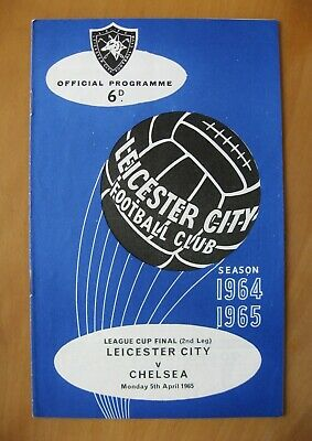 LEICESTER CITY V CHELSEA League Cup Final 1965 Exc Condition Football Programme • 149.99£