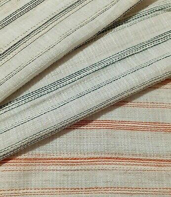 Striped Thin Viscose Cotton Fabric - Sold By The Metre • 2.89£