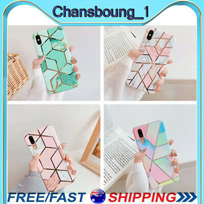 AU6.98 • Buy Case For IPhone 11 Pro XR XS 8 7 2020 SE ShockProof Marble Phone Cover Silicone