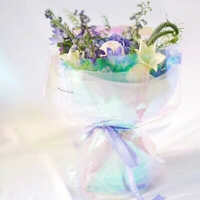 20* Flower Wrapping Paper Iridescent Film Packaging Cellophane For Bouquet Gift • 5.38£