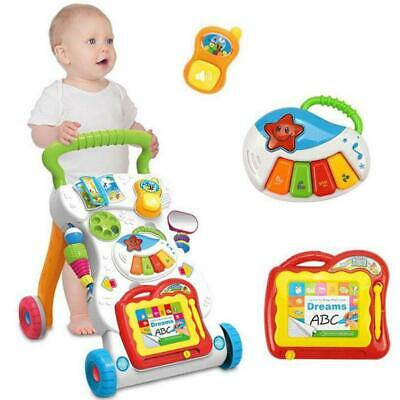 Interactive Baby Walker First Steps Push Along Bouncer Activity Music Melody Toy • 16.04£