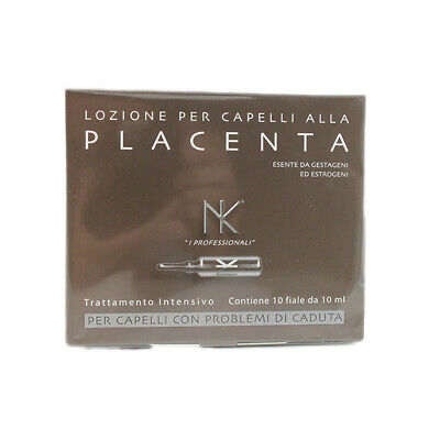 NK Nicky Chini Placenta Treatments Against Hair Loss 10 Ampoules À 10 ML • 14.46£