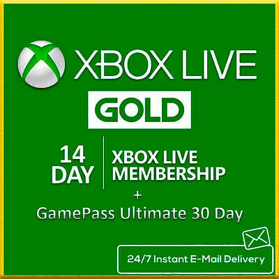 $1.79 • Buy Microsoft Xbox Live 14 Day + Game Pass 30 Day / Instant Delivery