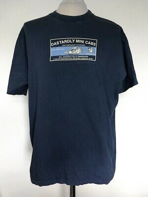 Dastardly And Muttley Blue T-shirt Official Cartoon Newtork Size XL Used  • 4£