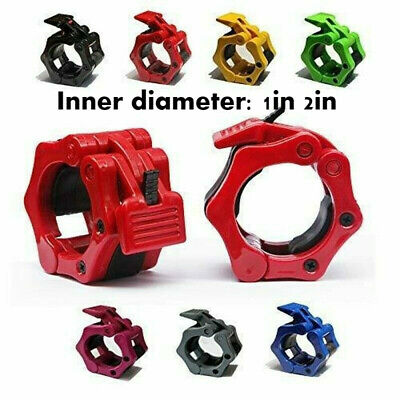 $ CDN15.81 • Buy 2x Olympic Dumbbell Barbell Bar Lock 1  Weight Clamps Collars Gym Training 25mm