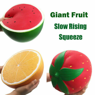 AU40.45 • Buy Super Jumbo Soft Squishys Strawberry Peach Watermelon Orange Slow Rising Toys