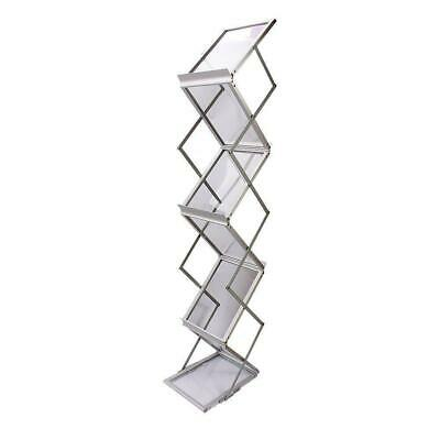A4 Folding Literature Brochure Display Stand Magazine Rack For Display File • 51.39£