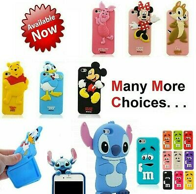 Kid Children 3D Cute Cartoon Funny Soft Gel Case Cover For IPhone 4 4s 5 5s 6 6s • 3.75£