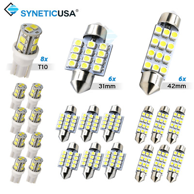 $ CDN13.06 • Buy Syneticusa 20x Combo LED Car Interior Dome Map Door License Plate Lights White