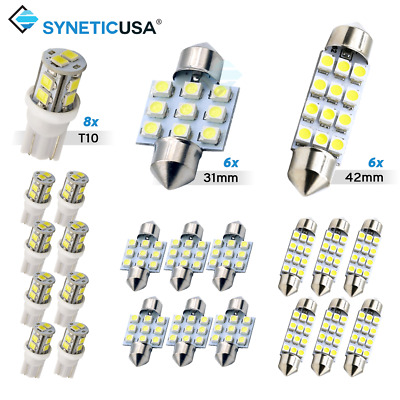 $10.79 • Buy Syneticusa 20x Combo LED Car Interior Dome Map Door License Plate Lights White