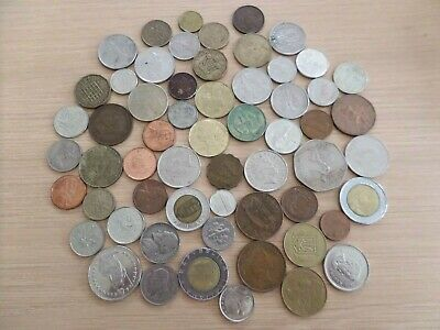 Batch Of 59 Mixed Foreign Coins - Various • 4.99£