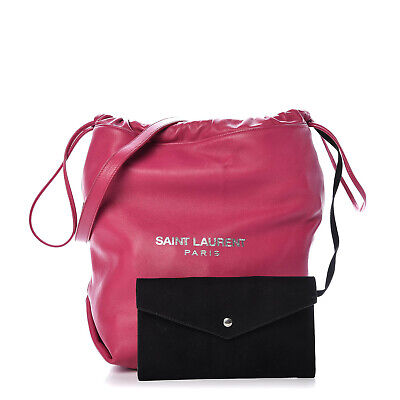 AU899 • Buy Authentic YSL TEDDY BUCKET BAG IN LAMBSKIN With Pouch