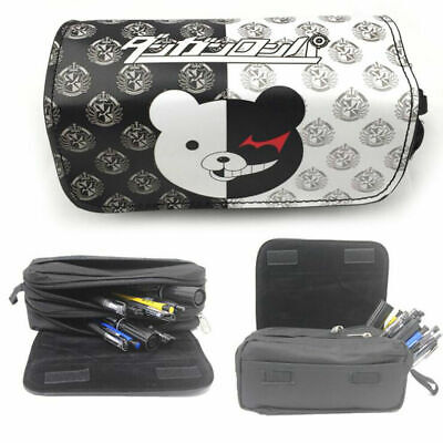 High Capacity Anime Pencil Case Danganronpa Monokuma Stationary Bag • 8.99£