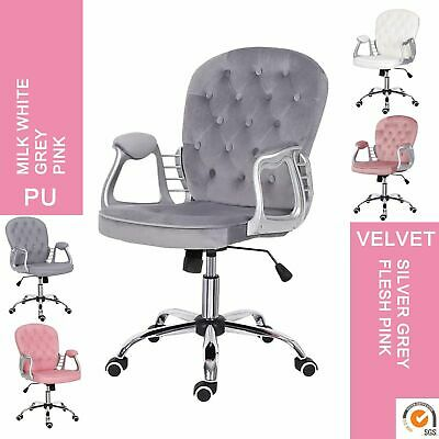 £80.90 • Buy Velvet Swivel Chair Executive Office Chair Comfy Padded Seat Chair High Back UK