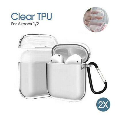 AU6.99 • Buy Shockproof Apple Airpods Airpod Case Cover Clear Transparent Skin SoftTPU Holder
