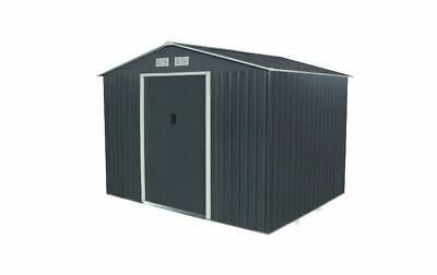 Bentley Navy Grey Apex 9ft X 6ft Metal Garden Shed - Failed Delivery, Damaged • 104£