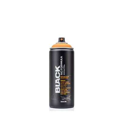 Montana Black Spray Paint - Matt Finish, High Pressure - 400ml Can • 4.76£