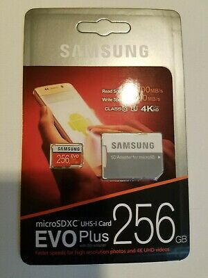 $22 • Buy 256gb Micro Sd Card With Sd Card Adapter Samsung Brand New Fast FREE SHIPPING